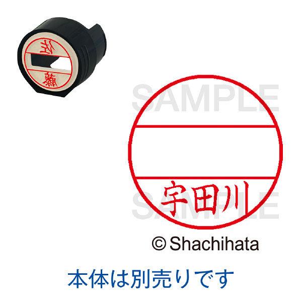 シャチハタ 日付印 データーネームEX15号 印面 宇田川 ウダガワ