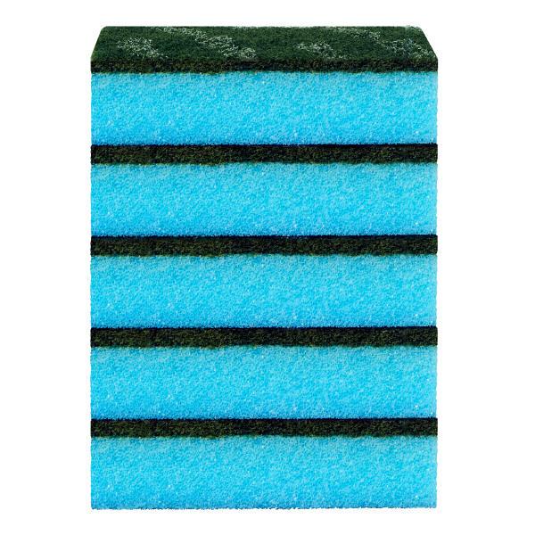 スコッチブライト 抗菌カラーたわし ハードタイプ ブルー 1パック (15個入り:5個入×3パック)キッチンスポンジたわし スリーエム (3M)