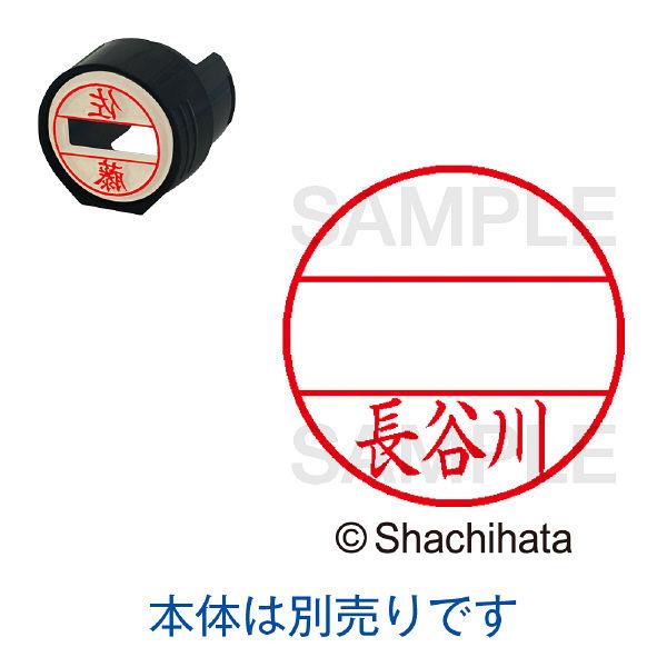 シャチハタ 日付印 データーネームEX15号 印面 長谷川 ハセガワ