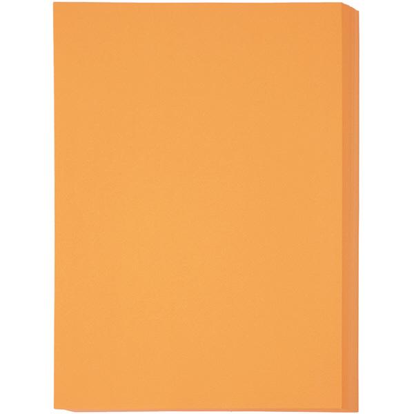 オレンジ A4 厚口 1冊(500枚入)