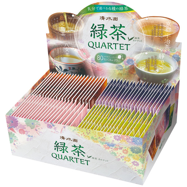 清水園産地別煎茶ティーバッグ 80バッグ