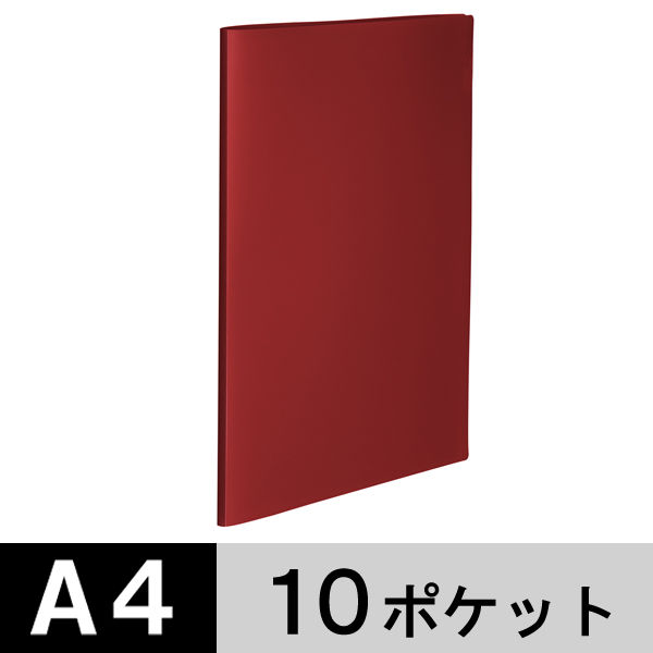 クリアファイル A4縦10P 赤100冊