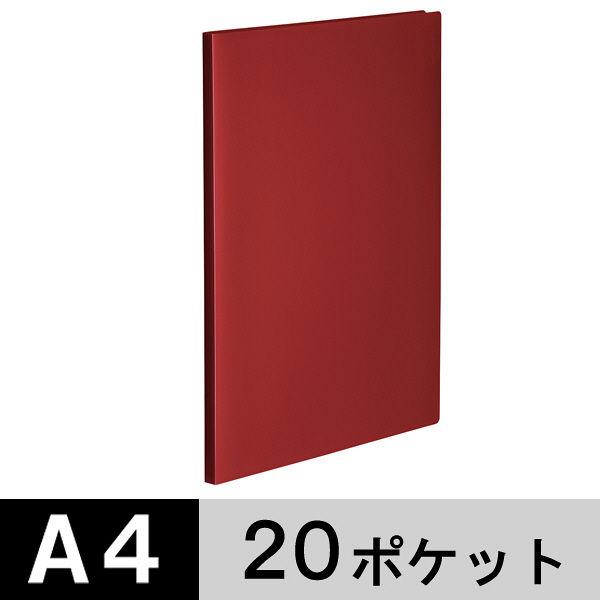 クリアファイル A4縦20P 赤100冊