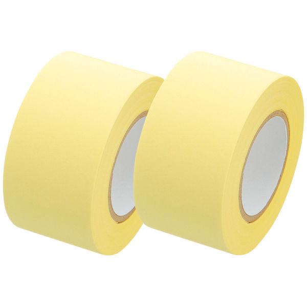 ヤマト メモックロールテープ詰替用 幅25mm×10m巻 再生紙 黄 R-25H-1 1パック(2巻入)