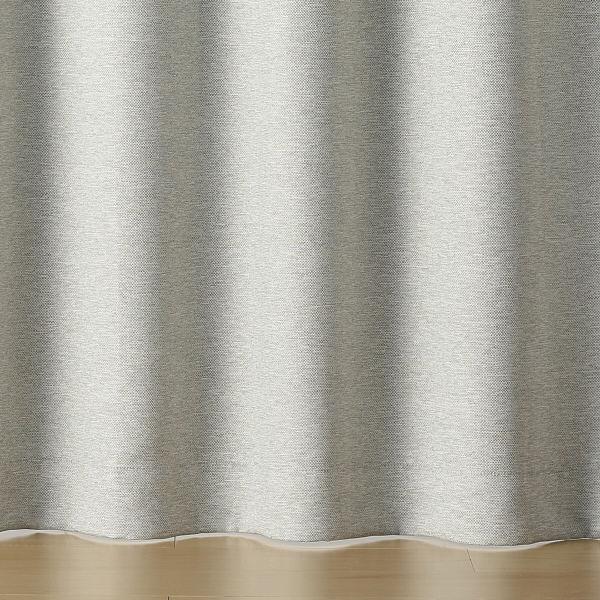 二重織プリーツカーテン/杢ライトグレー