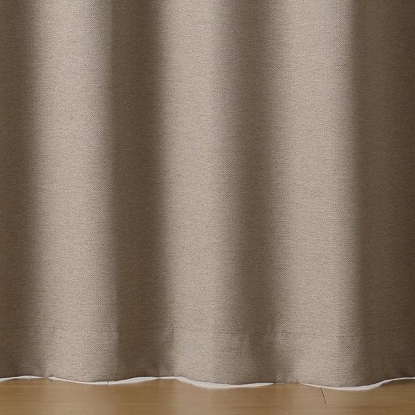 二重織プリーツカーテン/杢ライトブラウン