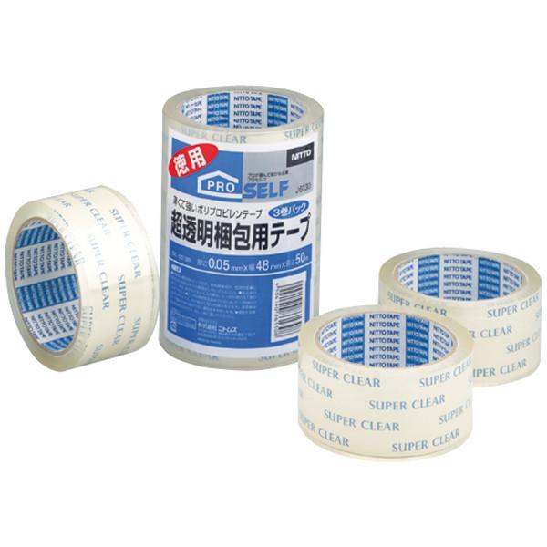 超透明梱包用テープ SC-01N 0.05mm厚 50m巻 J6130 1パック(3巻入) ニトムズ