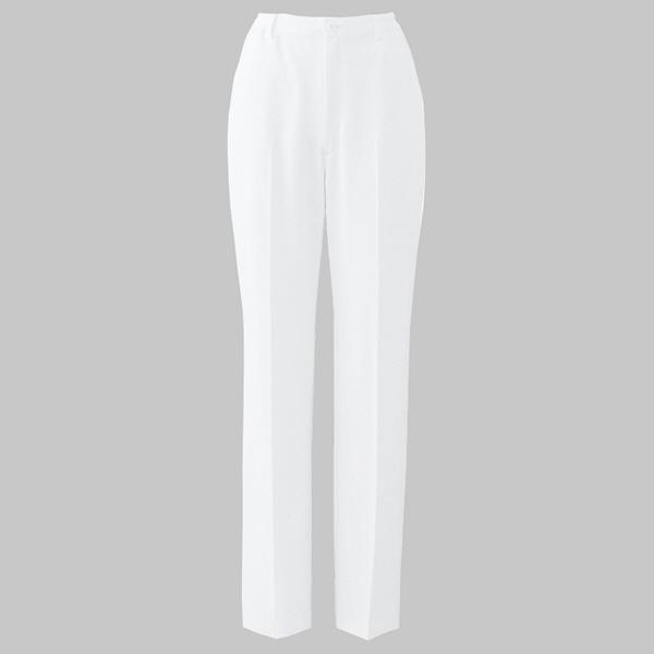 白衣 レディスパンツ(2タック・後ろ総ゴム) ホワイト LLPO-2007 1枚 オンワード (取寄品)