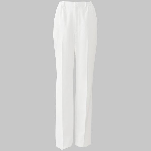 白衣 楽&美パンツ(ノータック・後ろ総ゴム) ホワイト ELPO-2024 1枚 オンワード (取寄品)