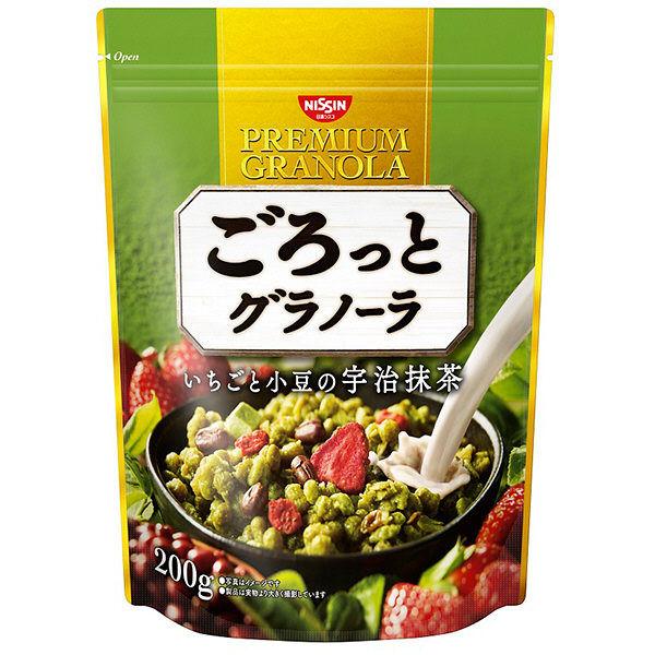 ごろっとグラノーラいちごと小豆の宇治抹茶