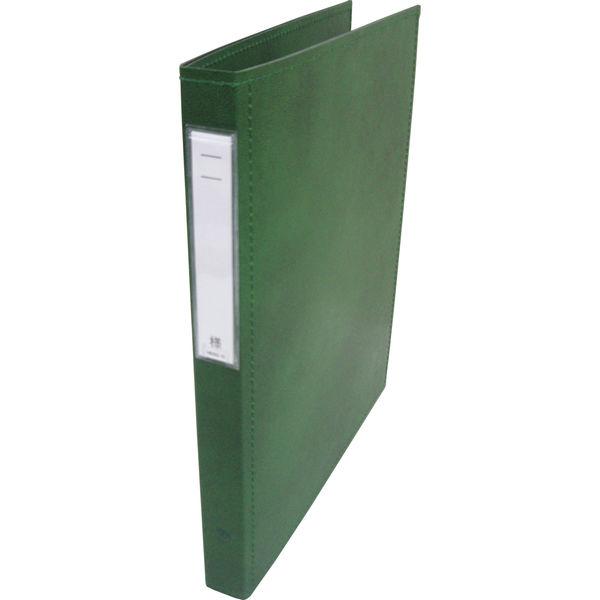 リヒトラブ カルテブック スタンダード表紙 2穴 背幅28mm グリーン HB406-3 1箱(10冊入) (直送品)