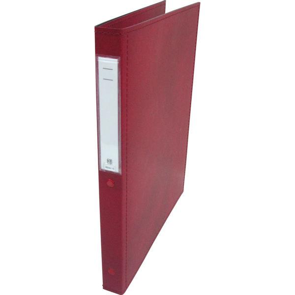 リヒトラブ カルテブック スタンダード表紙 2穴 背幅28mm レッド HB406-5 1箱(10冊入) (直送品)