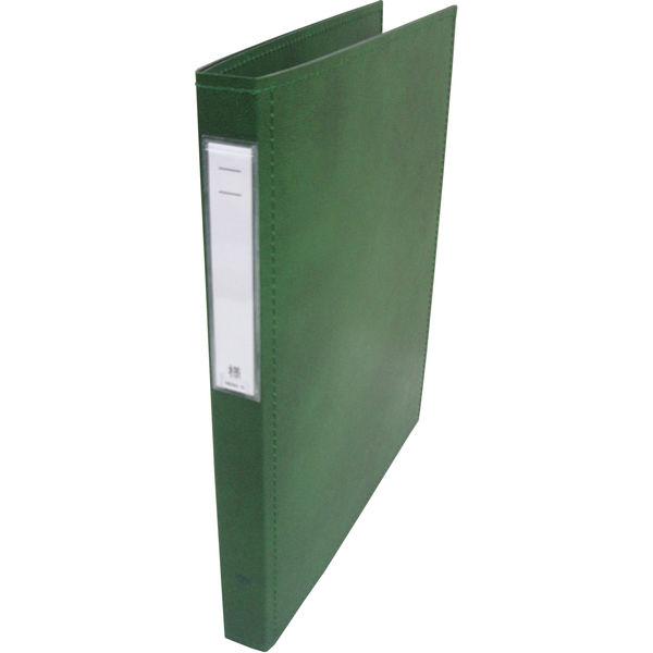 リヒトラブ カルテブック スタンダード表紙 4穴 背幅28mm グリーン HB407-3 1箱(10冊入) (直送品)