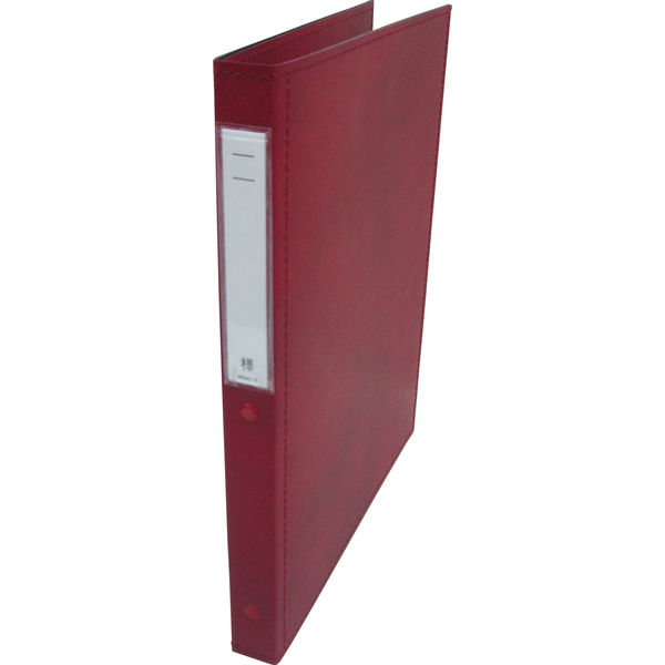 リヒトラブ カルテブック スタンダード表紙 30穴 背幅28mm レッド HB408-5 1箱(10冊入) (直送品)