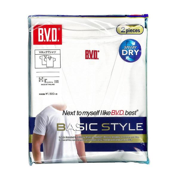 B.V.D. VネックTシャツ2枚 LL