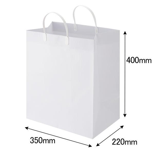 平紐 手提げ紙袋 白 360枚