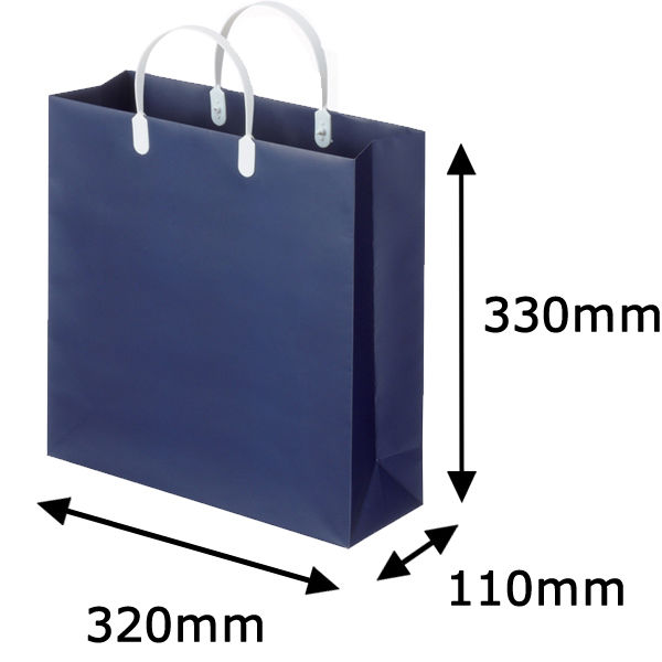平紐 手提げ紙袋 紺 S 360枚
