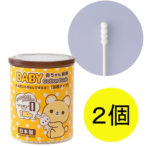 くまBABY綿棒デコボコ180本×2