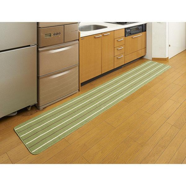 リーニエ キッチンマット 45×270緑