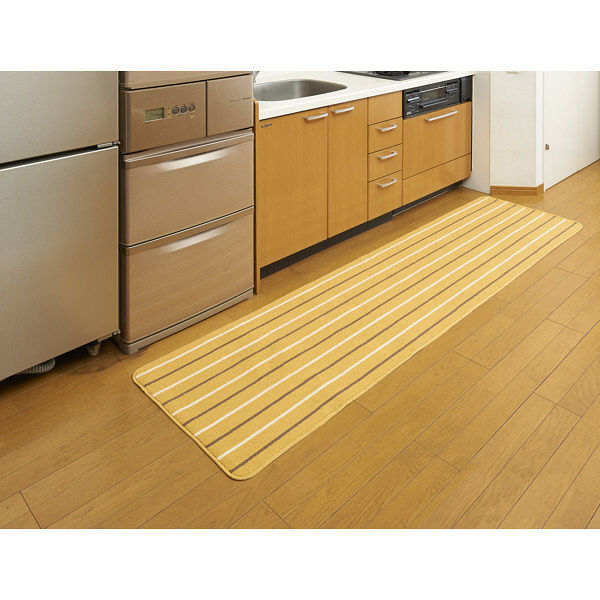 リーニエ キッチンマット 60×240黄