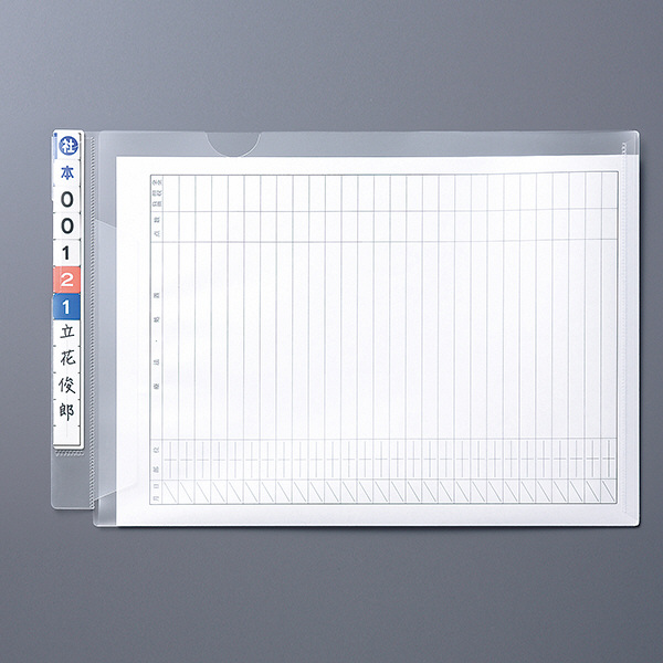 リヒトラブ HK2003 カルテフォルダー A4ヨコ置き シングル(フラップ付) 1箱(100枚入)