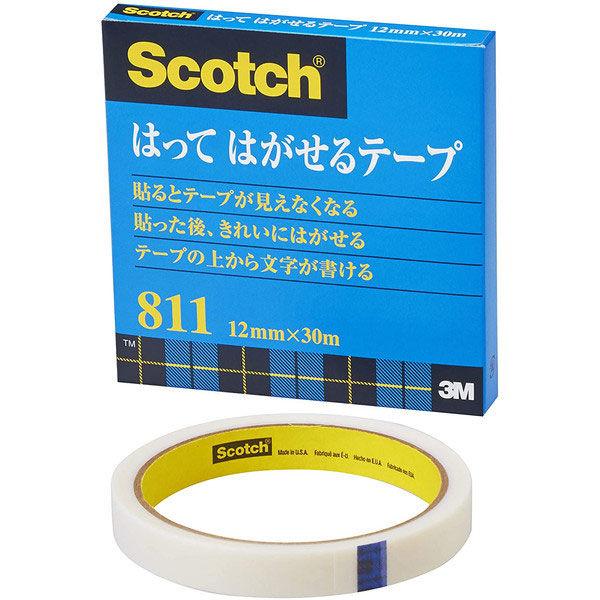スリーエム スコッチはってはがせるテープ 811-3-12 幅12mm×30m