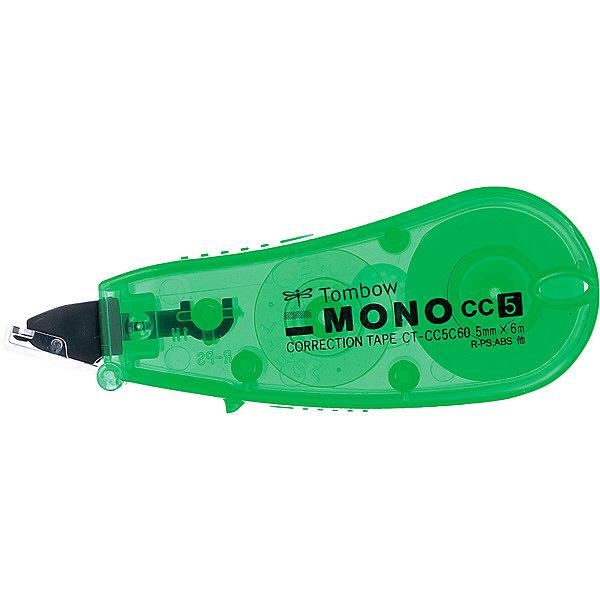 トンボ鉛筆【MONO】修正テープ 使いきりタイプ モノCC5C 5mm×6m 緑 CT-CC5C60 5個 (直送品)