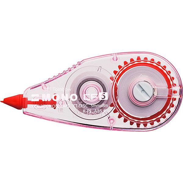 トンボ鉛筆【MONO】修正テープ 使いきりタイプ モノCF5 5mm×8m ピンク CT-CF5C80 5個 (直送品)