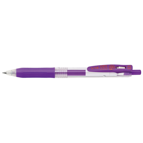 ゼブラ サラサクリップ 0.3mm 紫 JJH15-PU 10本 (直送品)