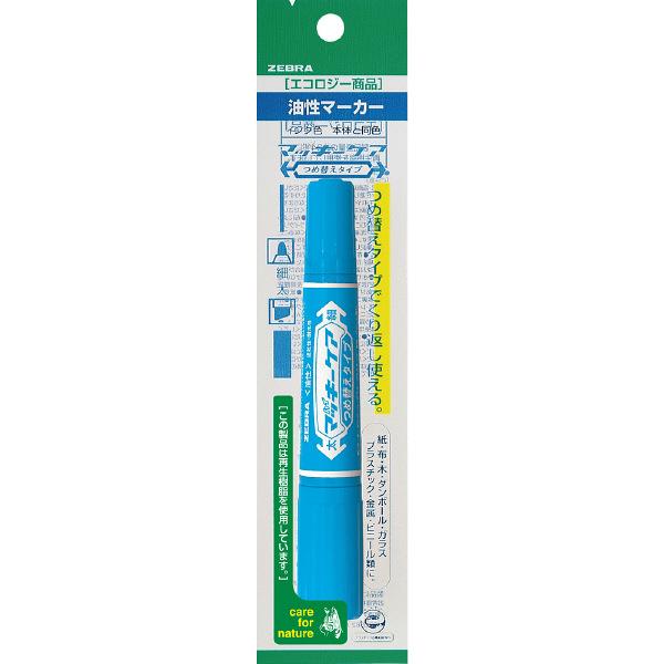ハイマッキーケア 詰め替えタイプ本体 太字/細字 ライトブルー 油性ペン P-YYT5-LB 7本 ゼブラ (直送品)