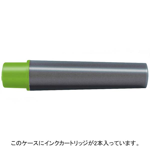 紙用マッキー 詰替インクカートリッジ極細用 水性ペン ライトグリーン RWYTS5-LG 2本入×9パック ゼブラ (直送品)