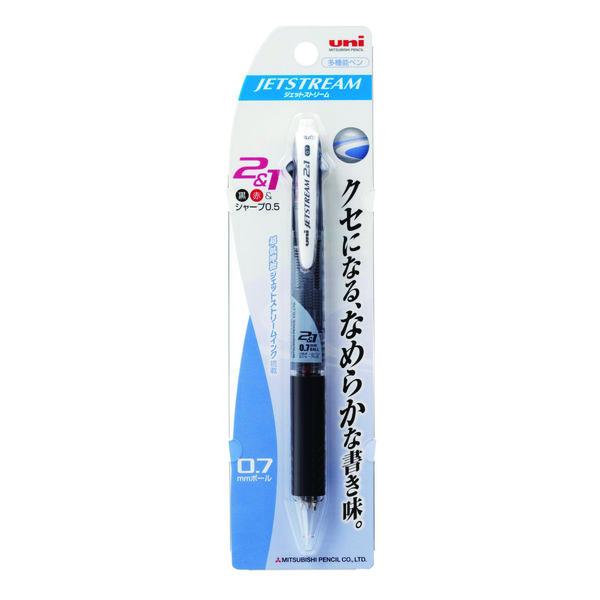 ジェットストリーム多機能ボールペン 2色+シャープ 0.7mm MSXE3-500-07 黒 2本 三菱鉛筆uni (直送品)