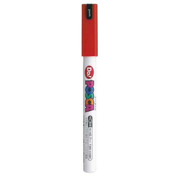ポスカ 極細 レッド PC1MD.15 水性マーカー 5本 三菱鉛筆uni (直送品)