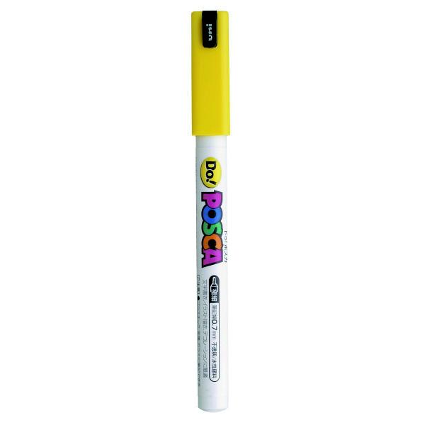 ポスカ 極細 イエロー PC1MD.2 水性マーカー 5本 三菱鉛筆uni (直送品)