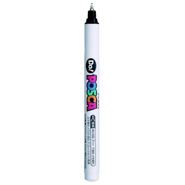 ポスカ 極細 ブラック PC1MD.24 水性マーカー 5本 三菱鉛筆uni (直送品)