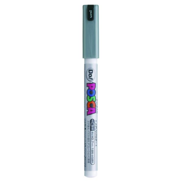 ポスカ 極細 メタリックシルバー PC1MDM.26 水性マーカー 5本 三菱鉛筆uni (直送品)