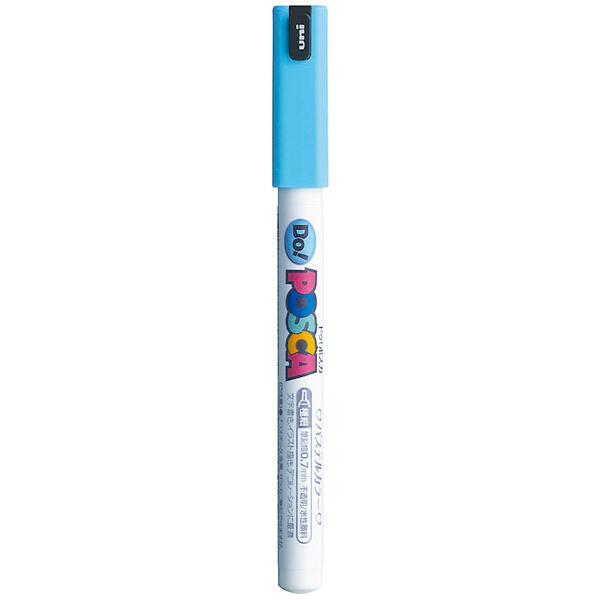 ポスカ 極細 パステルブルー PC1MDP.33 水性マーカー 5本 三菱鉛筆uni (直送品)