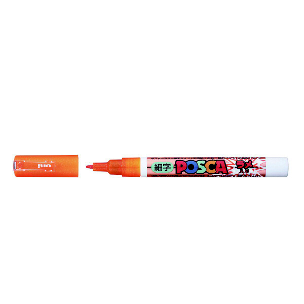 ポスカ 細字 ラメオレンジ PC3ML.4 水性マーカー 5本 三菱鉛筆uni (直送品)