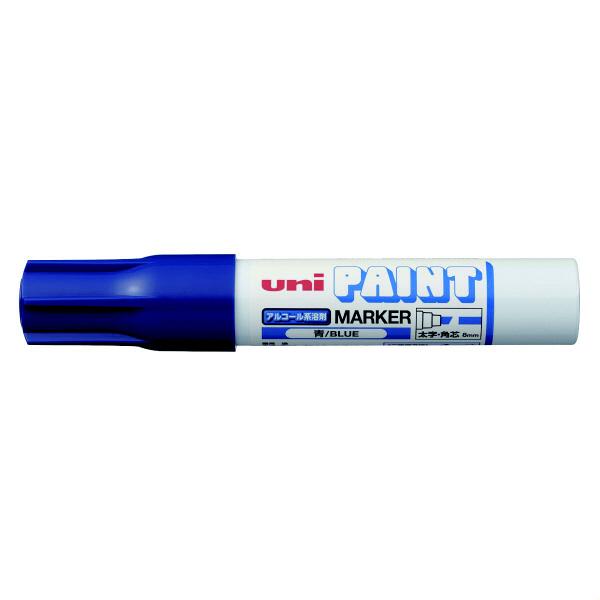 三菱鉛筆(uni) アルコールペイントマーカー 太字角芯 青 油性マーカー PXA-300 4本 (直送品)