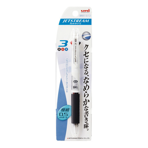 ジェットストリーム3色 白3本(直送品)