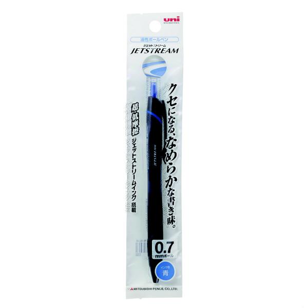 ジェットストリーム 油性ボールペン 0.7mm 青インク 黒軸 SXN-150-07 7本 三菱鉛筆uni (直送品)