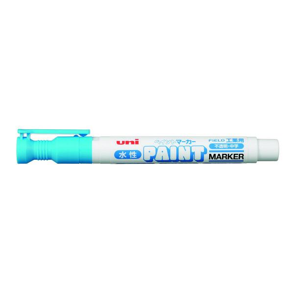 三菱鉛筆(uni) 水性ペイントマーカー 中字 水色 水性マーカー PXW2005M 5本 (直送品)