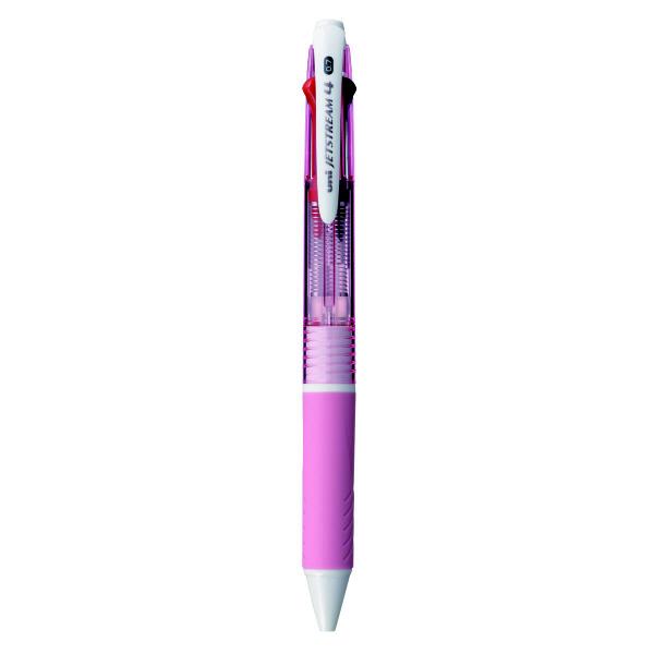 ジェットストリーム 4色ボールペン 0.7mm ピンク SXE4-500-07 2本 三菱鉛筆uni (直送品)