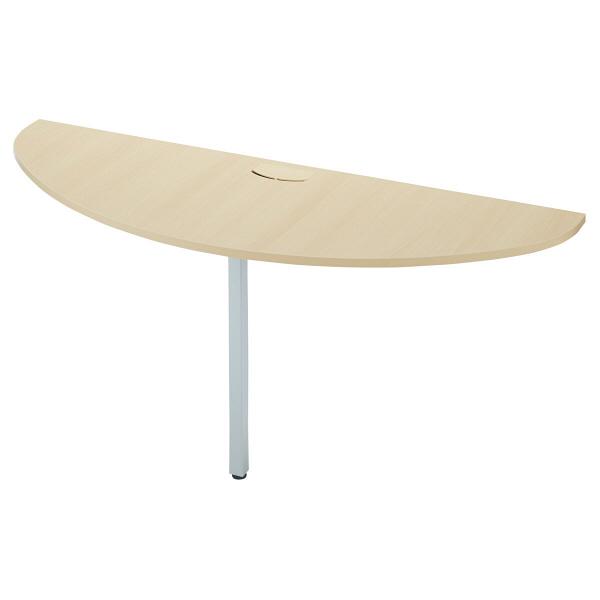 プラス TMユニットテーブル2 エンドテーブル ホワイトメープル 1台 (取寄品)