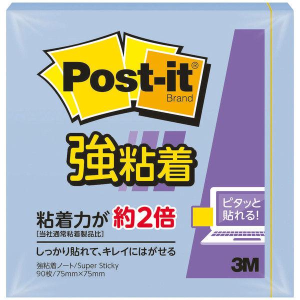 【強粘着】スリーエム ポスト・イット(R)強粘着ノートパステルカラー 654SS-NB 3冊 (直送品)