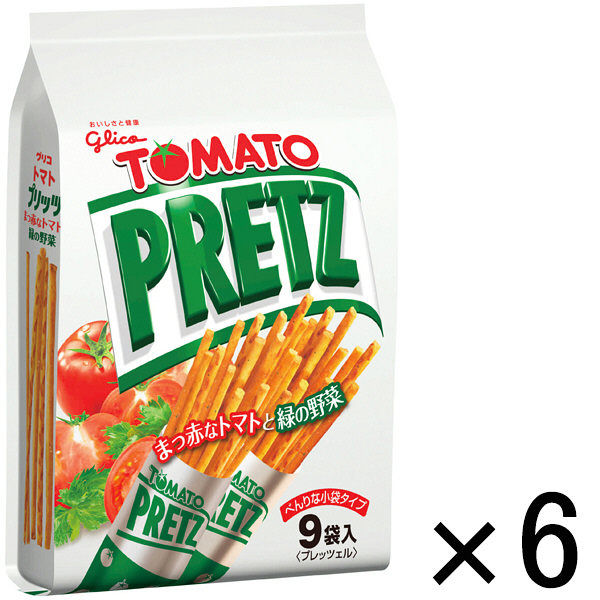 グリコ トマトプリッツ<9袋> 6個