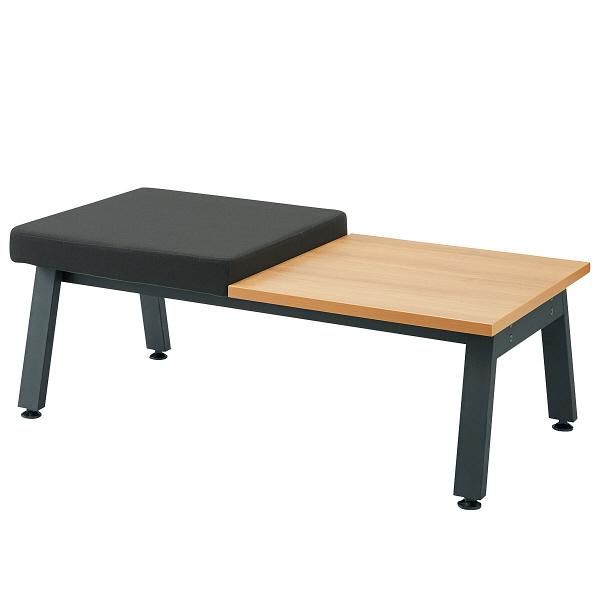 プラス シット&フィールドソファ 1人掛 背無1個テーブル1個 ブラック 1脚 (取寄品)