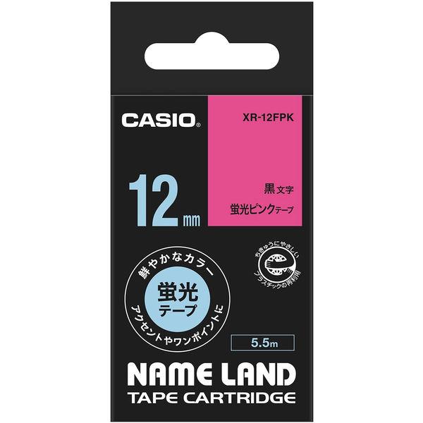 ネームランド 12ミリ 蛍光ピンク