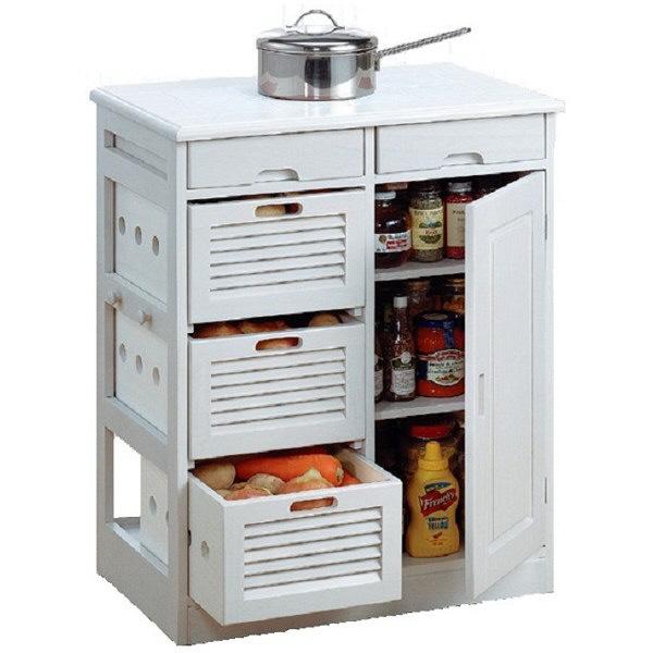 木製キッチンワゴン 幅570mm