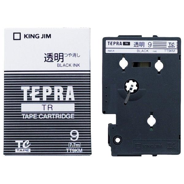 キングジム テプラ TRテープカートリッジ 9mm 透明ラベル(黒文字) 1個 TT9K(M)